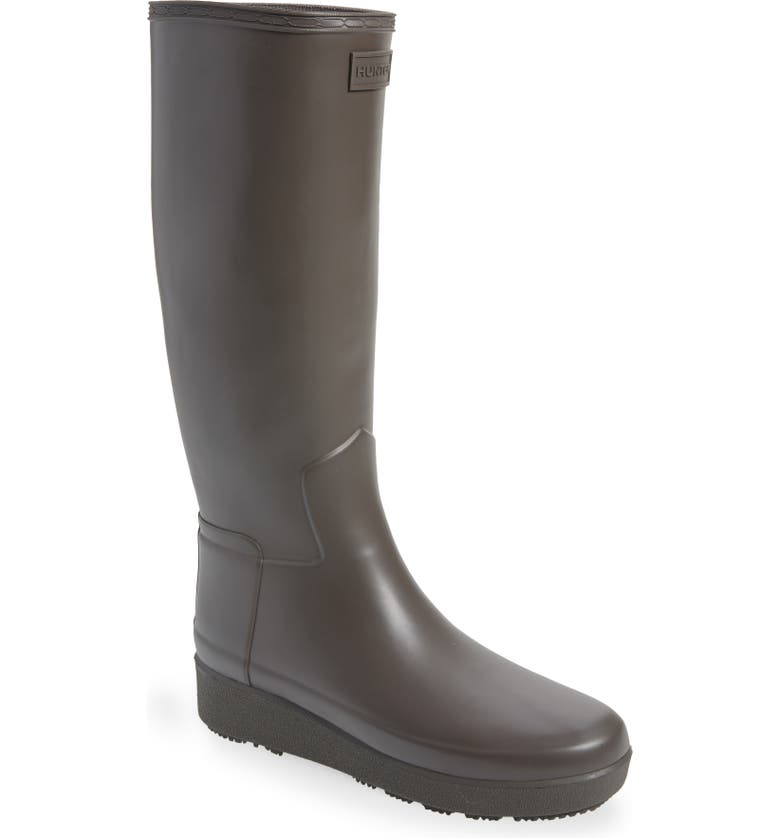 HUNTER Refined Creeper Tall Rain Boot, Main, color, SEEP