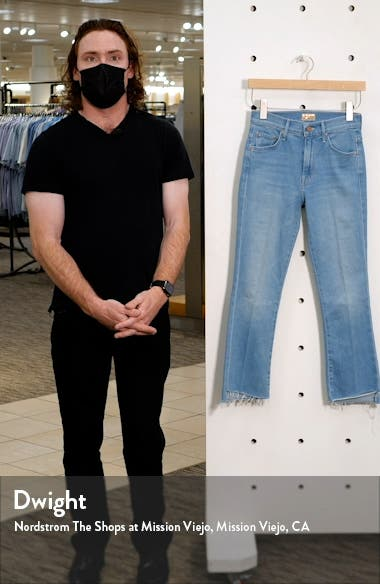 The Insider High Waist Crop Step Fray Bootcut Jeans, sales video thumbnail