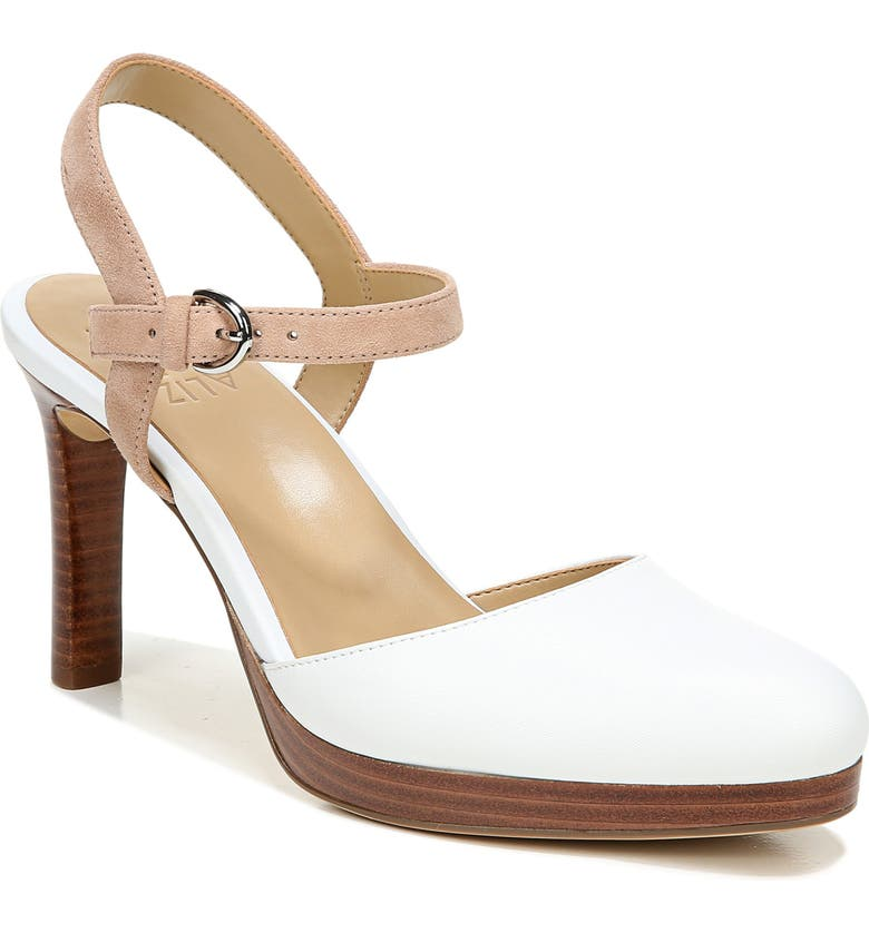 NATURALIZER Tulip Pump, Main, color, WHITE/ NUDE LEATHER