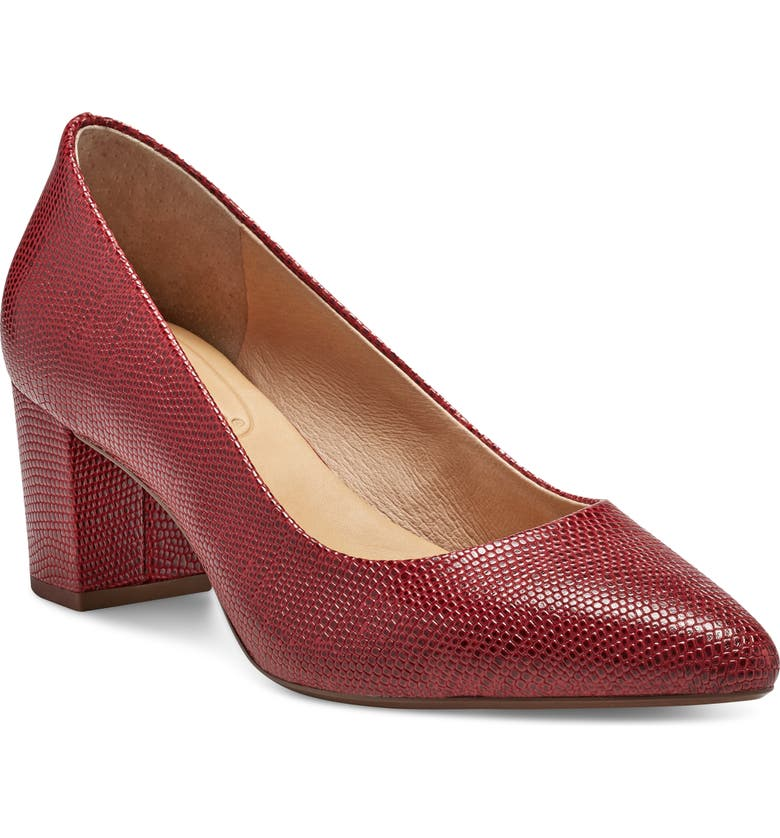 CC CORSO COMO<SUP>®</SUP> Ryanna Pump, Main, color, RED EMBOSSED LEATHER