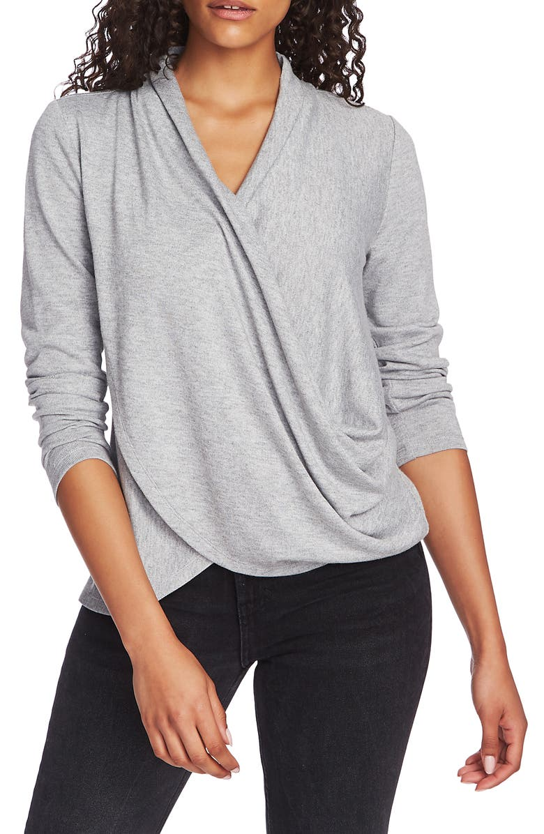 1.STATE Cozy Knit Top, Main, color, SILVER HEATHER