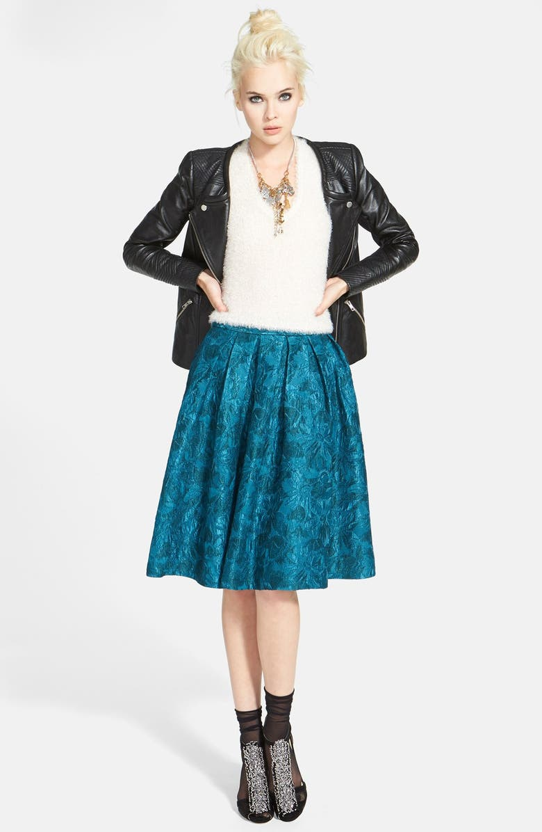 ASTR THE LABEL ASTR Pleat A-Line Full Skirt, Main, color, 440