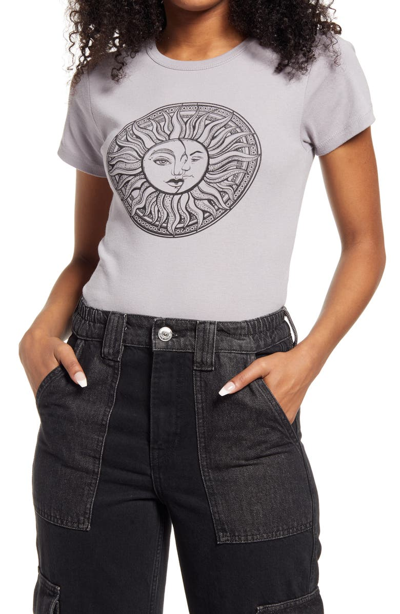 BDG URBAN OUTFITTERS Greater Days Baby Graphic Tee, Main, color, CHARCOAL