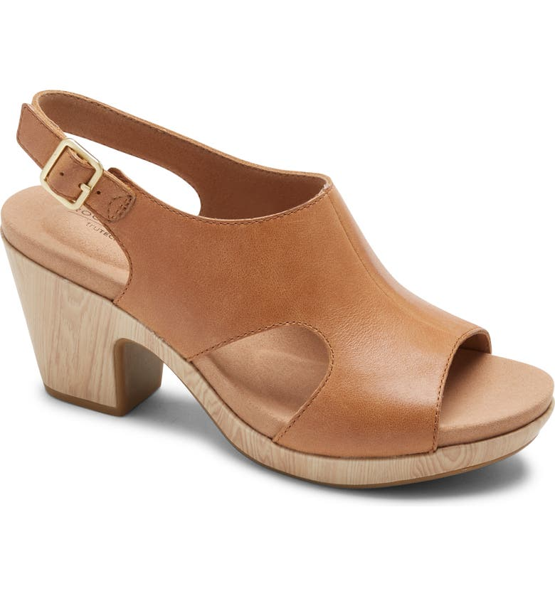 ROCKPORT Vivianne Slingback Sandal, Main, color, HONEY LEATHER