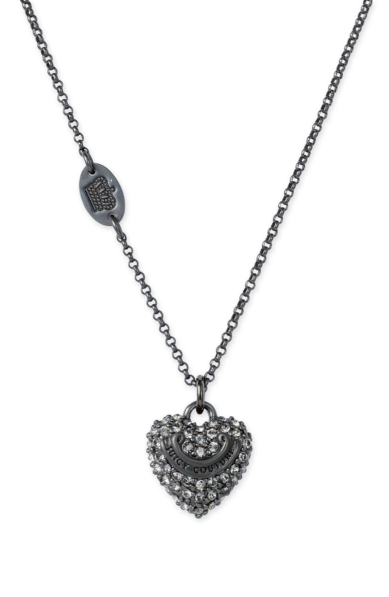 JUICY COUTURE 'Wish - Silver Key' Necklace, Main, color, 002