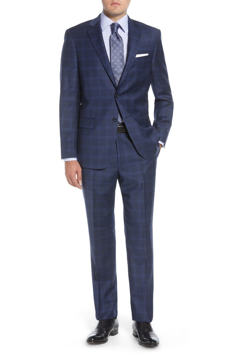 HART SCHAFFNER MARX Classic Fit Solid Wool Suit, Main, color, 409