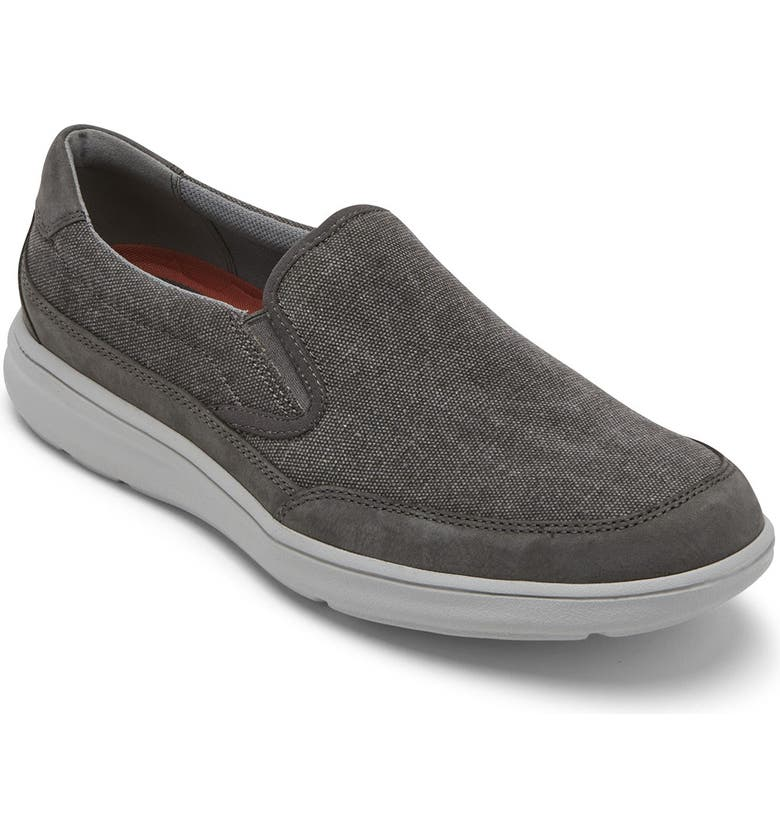 ROCKPORT Beckwith Dble Gore Sneaker, Main, color, MAGNET CANVAS/NBK