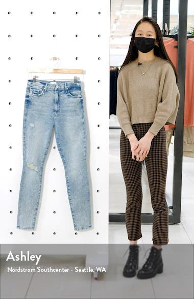 The Super Swooner Ripped High Waist Skinny Jeans, sales video thumbnail