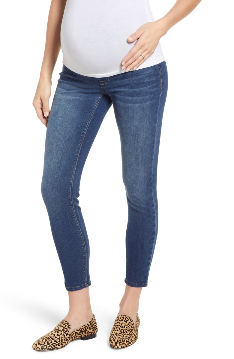 1822 DENIM Stretch 360 Ankle Skinny Maternity Jeans, Main, color, ZIGGY