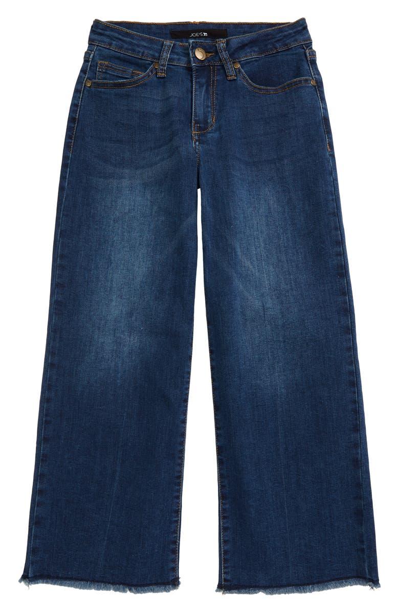 JOE'S Kids' The Emma Ram Hem Crop Wide Leg Jeans, Main, color, ALLEY WASH
