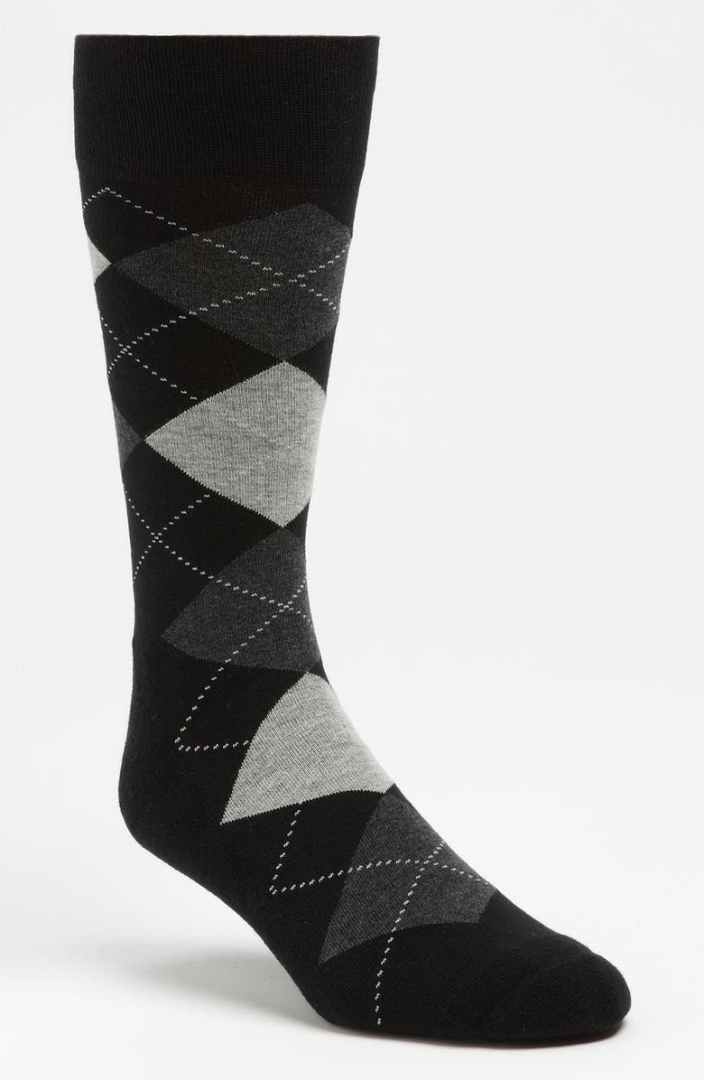 NORDSTROM Cushioned Argyle Socks, Main, color, 001