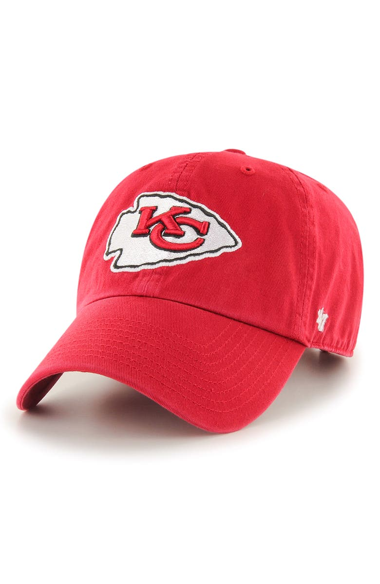 '47 Clean Up NFL Baseball Cap, Main, color, CHIEFS