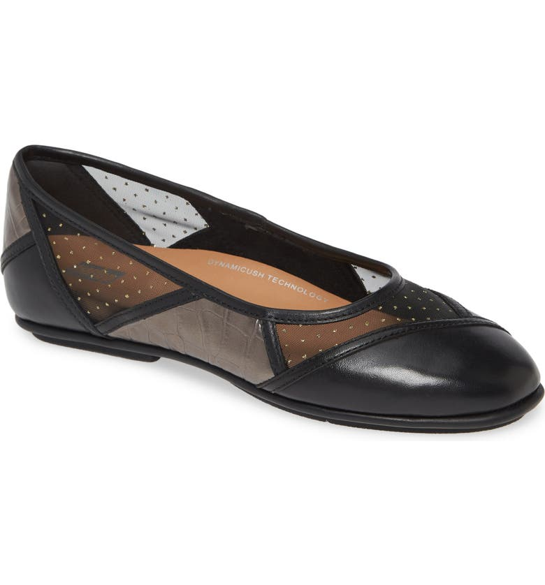 FITFLOP Allegria Art Deco Ballet Flat, Main, color, 017