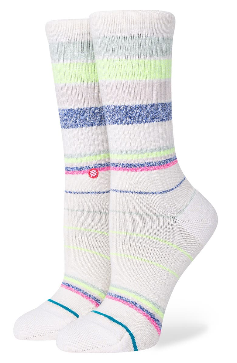 STANCE Happy Thoughts Crew Socks, Main, color, OFF WHITE