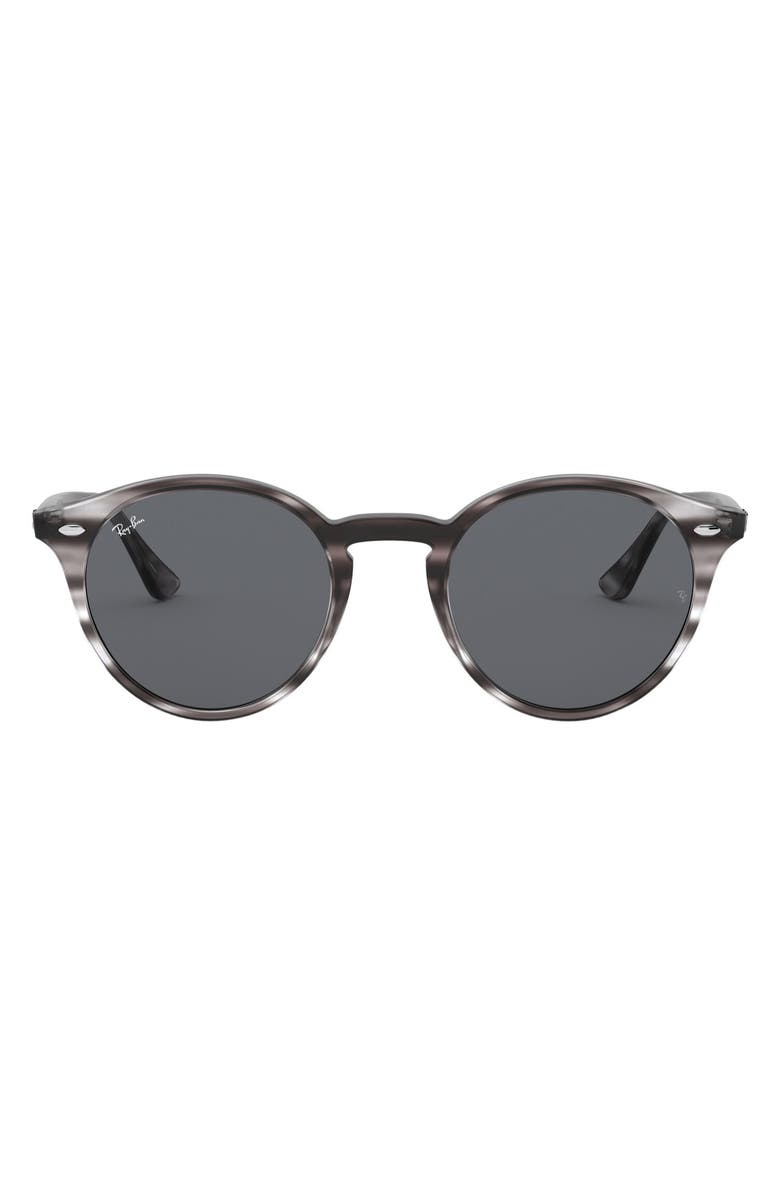 RAY-BAN Highstreet 49mm Round Sunglasses, Main, color, 020
