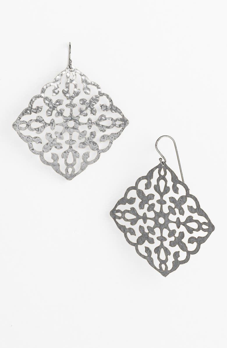 ARGENTO VIVO STERLING SILVER Argento Vivo 'Artisanal Lace' Square Drop Earrings, Main, color, 040