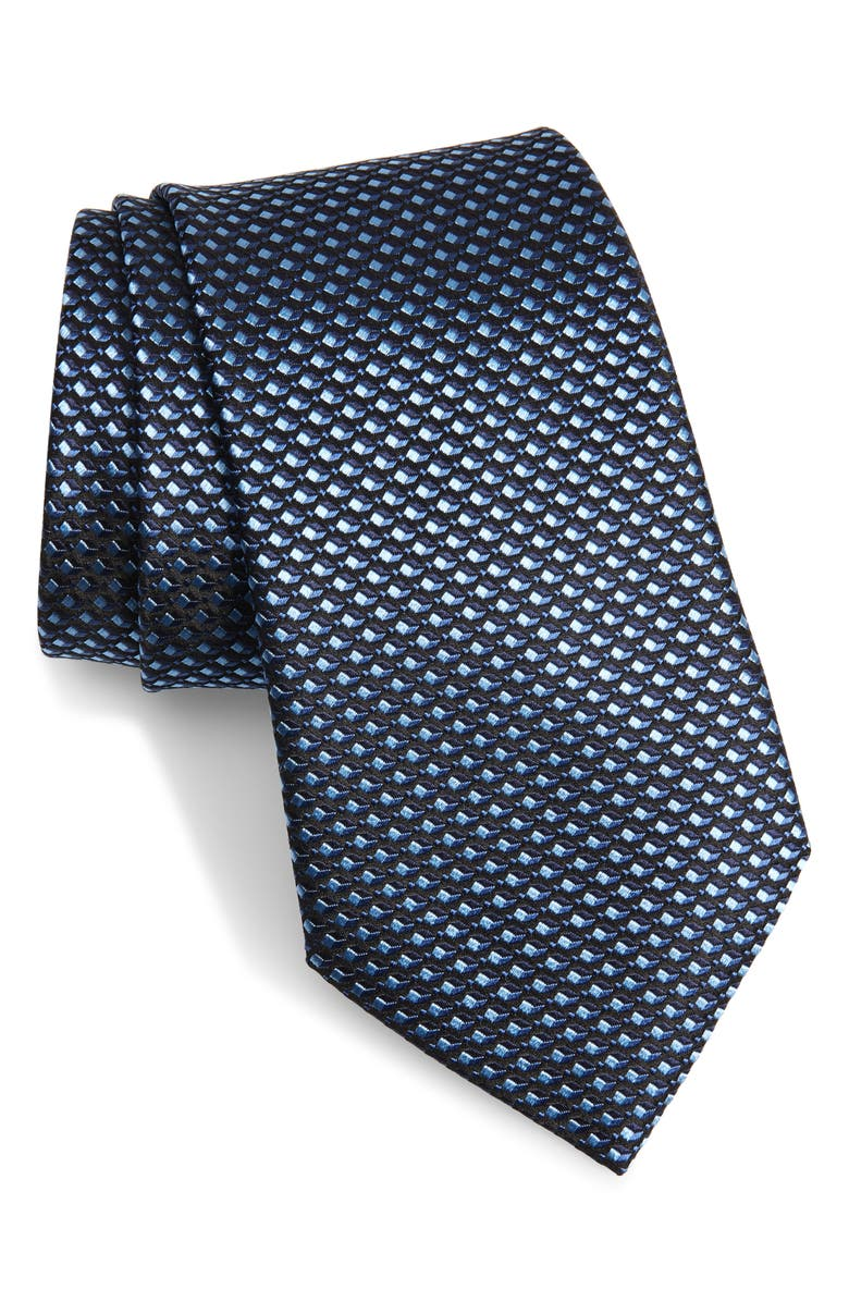 ERMENEGILDO ZEGNA Geometric Silk Tie, Main, color, 419