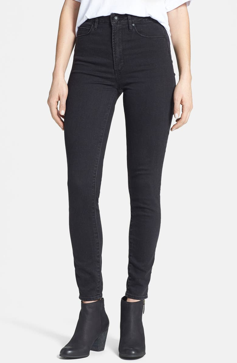 ARTICLES OF SOCIETY 'Halley' High Waist Stretch Skinny Jeans, Main, color, 001