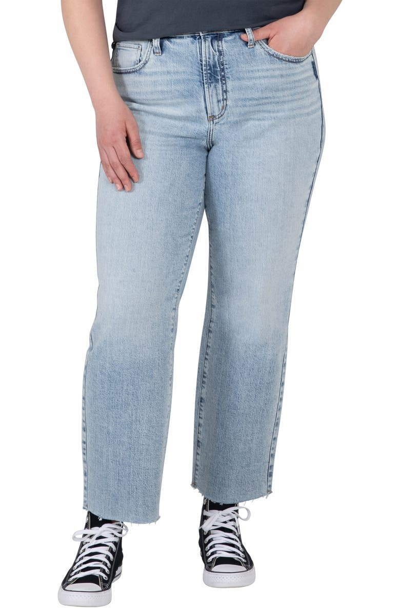 SILVER JEANS CO. Highly Desirable Ultra High Waist Straight Leg Jeans, Main, color, INDIGO