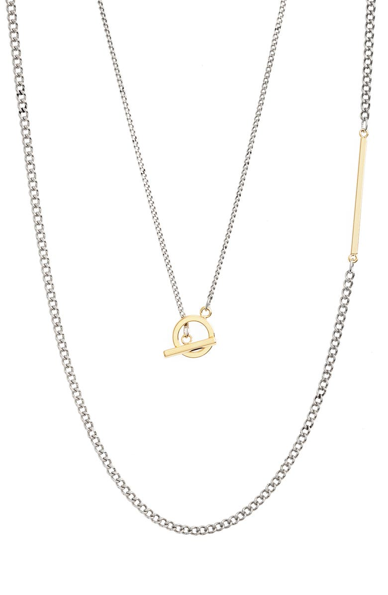 NORDSTROM Long Layered Necklace, Main, color, SILVER- GOLD