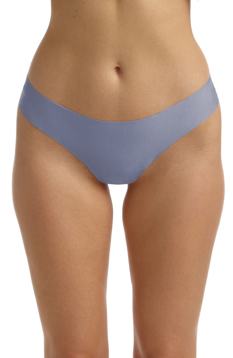 COMMANDO Butter Stretch Modal Thong, Main, color, PEBBLE