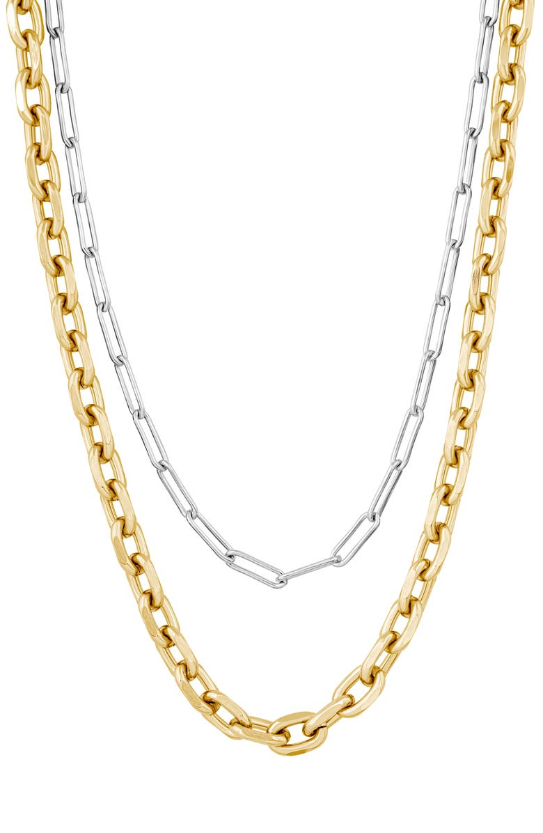 ELECTRIC PICKS Chain Necklace, Main, color, GOLD/SILVER