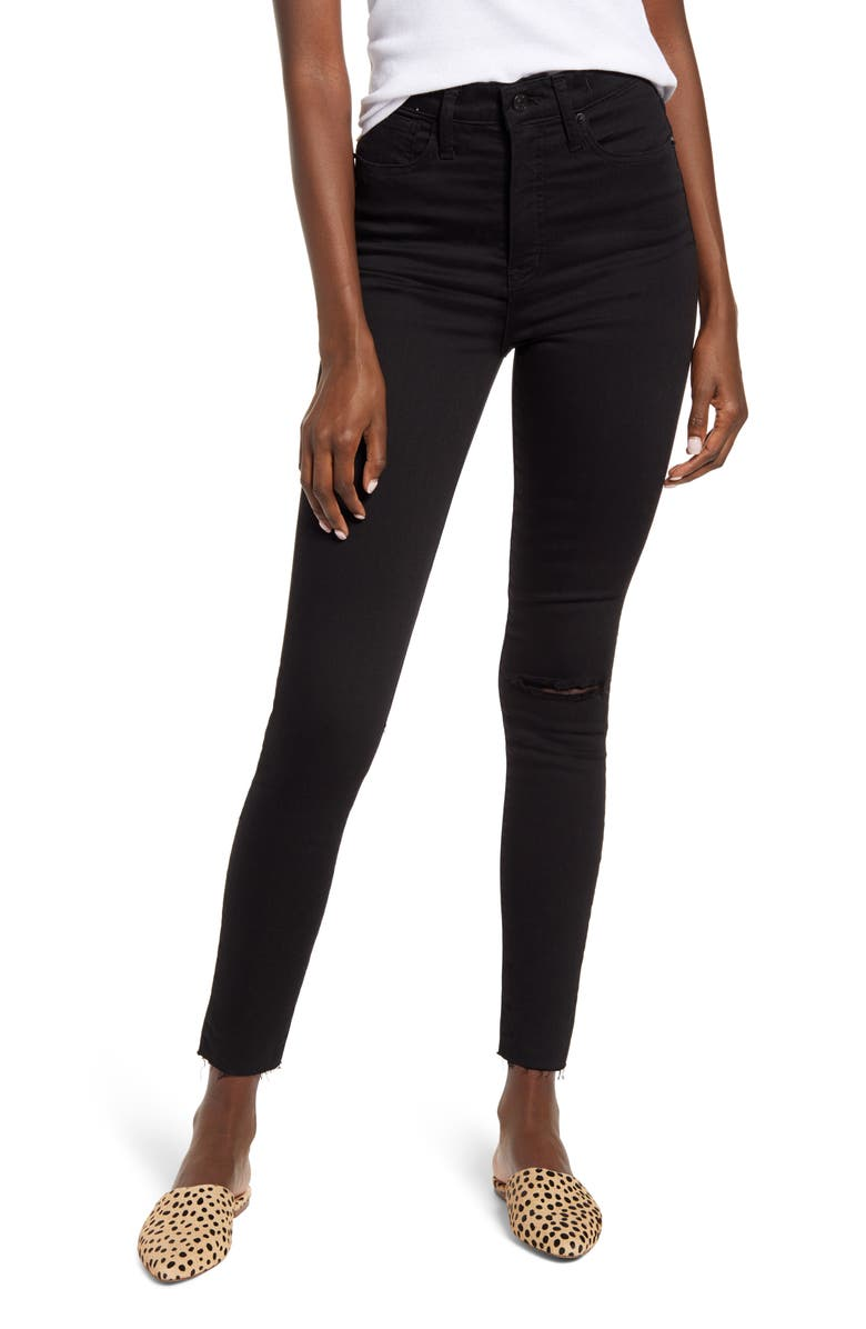 MADEWELL 11-Inch High-Rise Skinny Jeans, Main, color, 001
