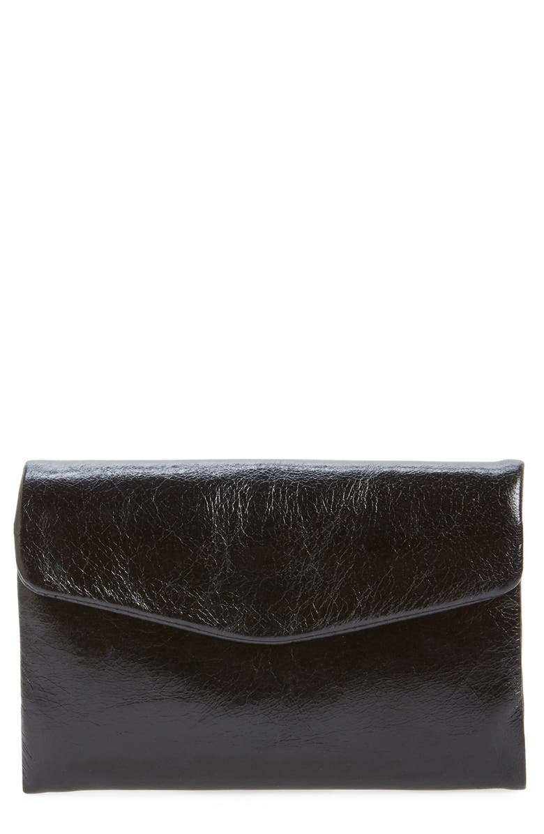 HOBO 'Lacy' Trifold Wallet, Main, color, BLACK