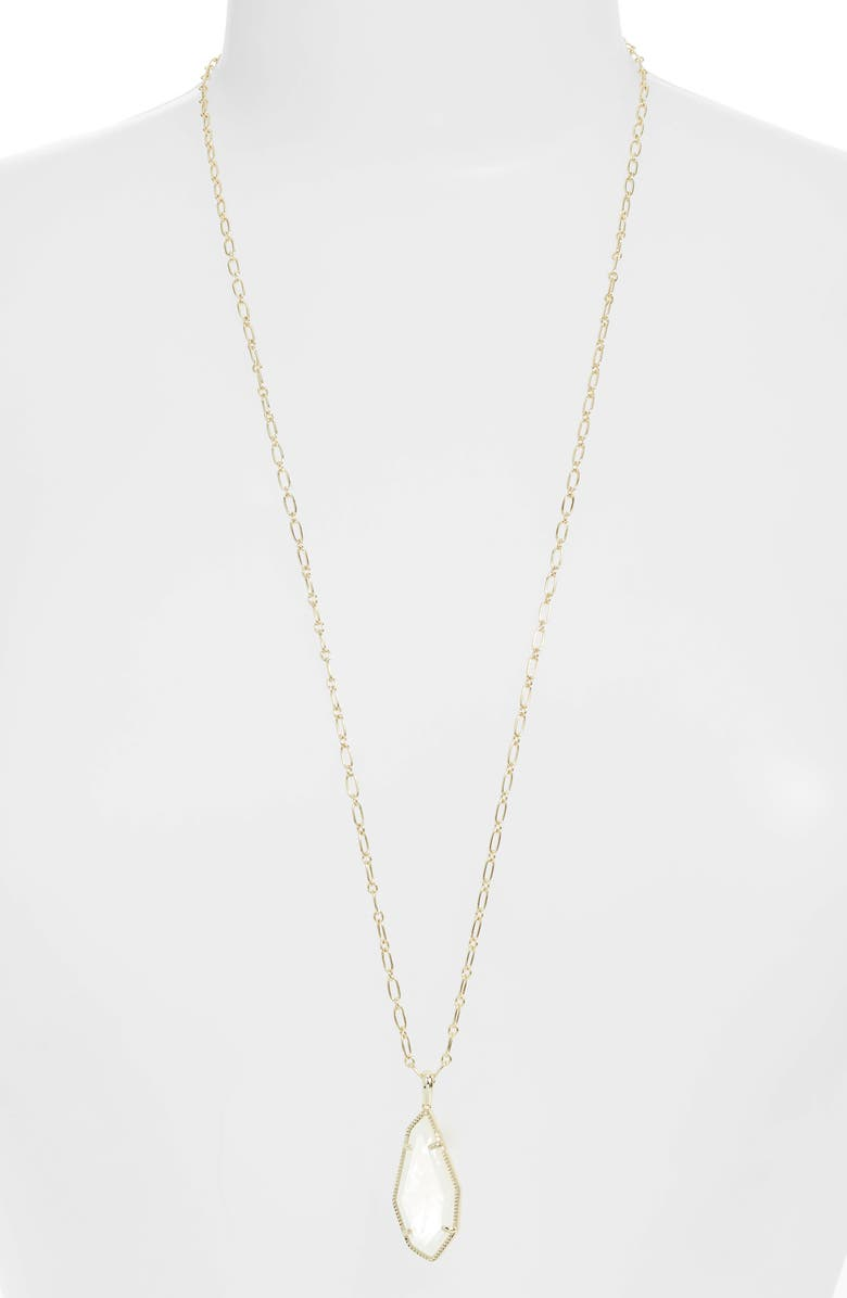 KENDRA SCOTT Muriel Pendant Necklace, Main, color, GOLD IVORY MOTHER OF PEARL