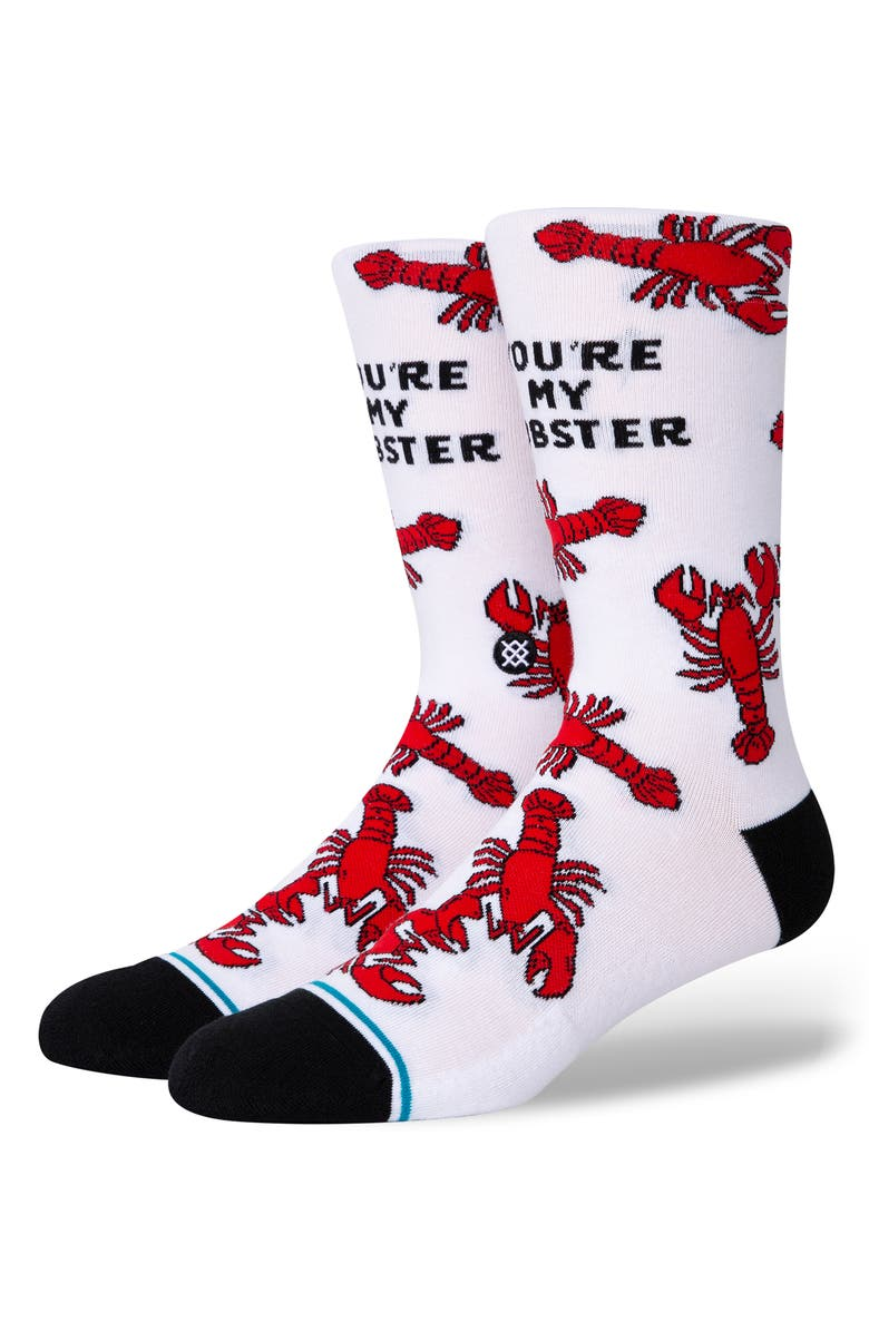 STANCE You're My Lobster Socks, Main, color, White
