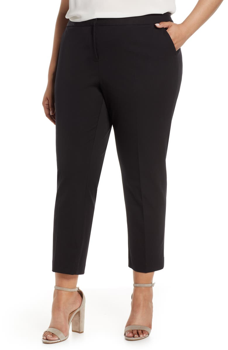 VINCE CAMUTO Stretch Twill Crop Pants, Main, color, 001
