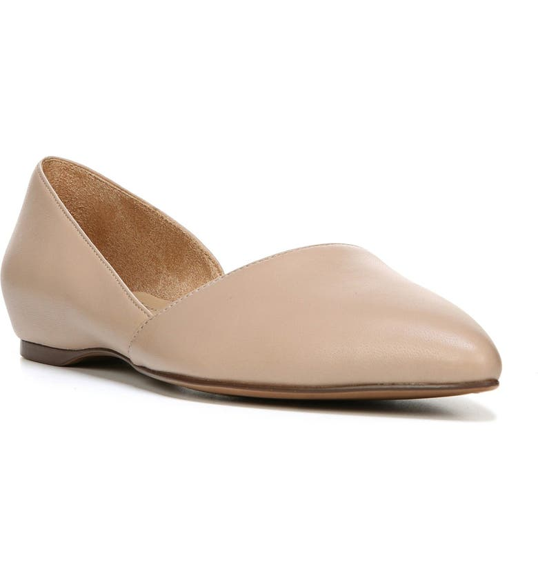 NATURALIZER Samantha Half d'Orsay Flat, Main, color, TAUPE LEATHER