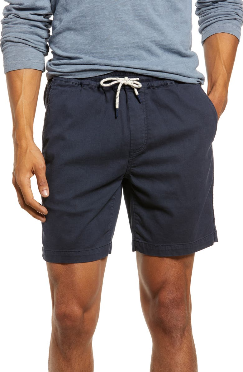 FAHERTY Essential Drawstring Shorts, Main, color, WEATHERED NAVY