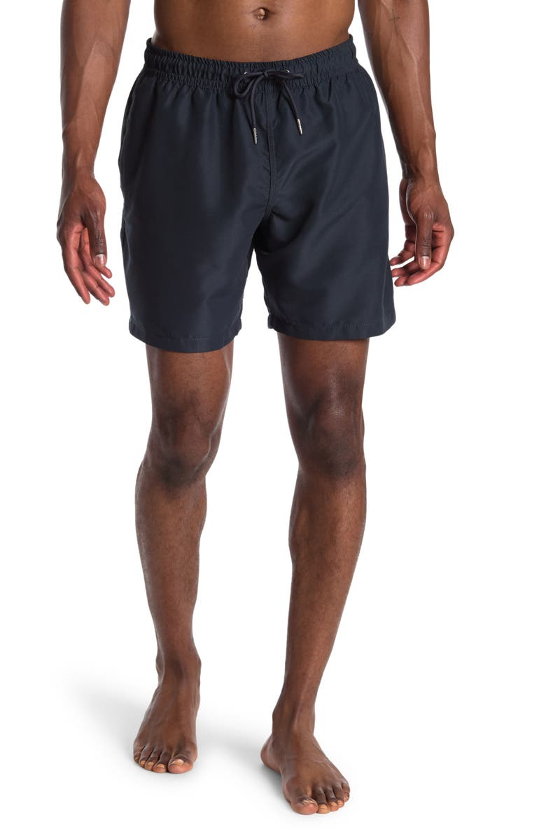 """SLATE AND STONE Cabo 6"""" Swim Trunks, Main, color, NAVY"""