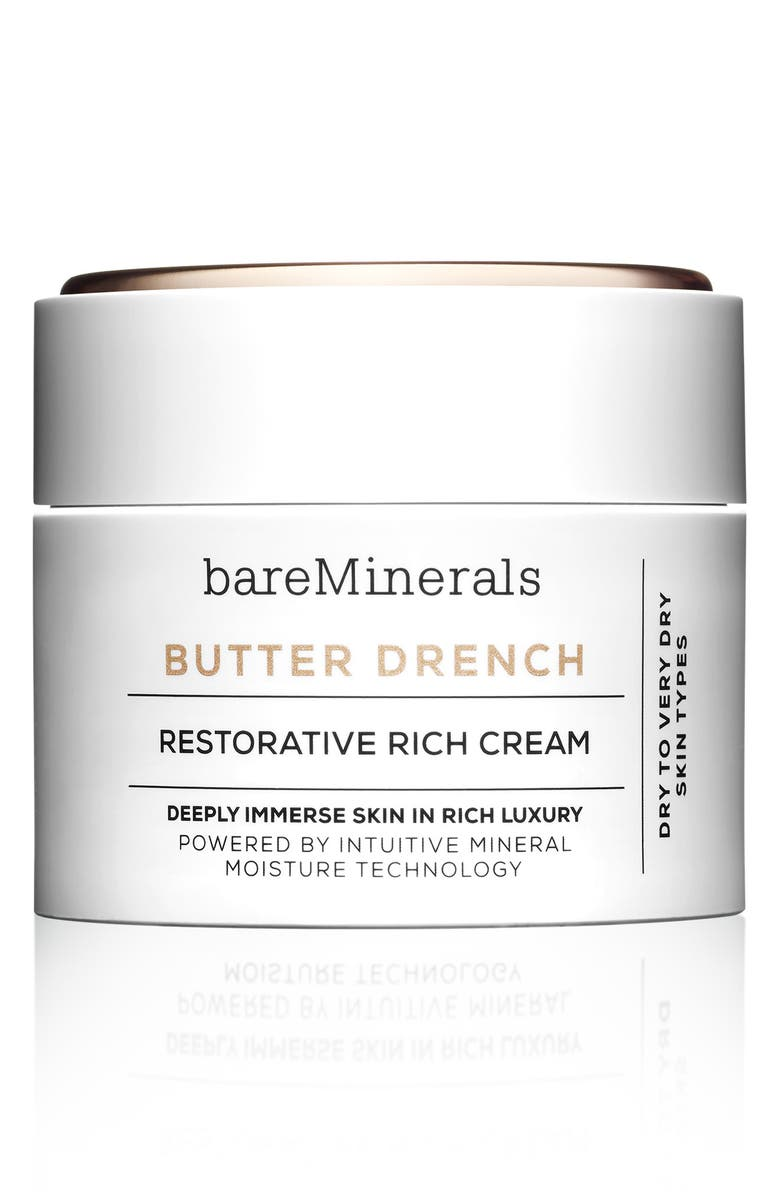 BAREMINERALS<SUP>®</SUP> BUTTER DRENCH<sup>™</sup> Restorative Rich Cream Moisturizer, Main, color, 000