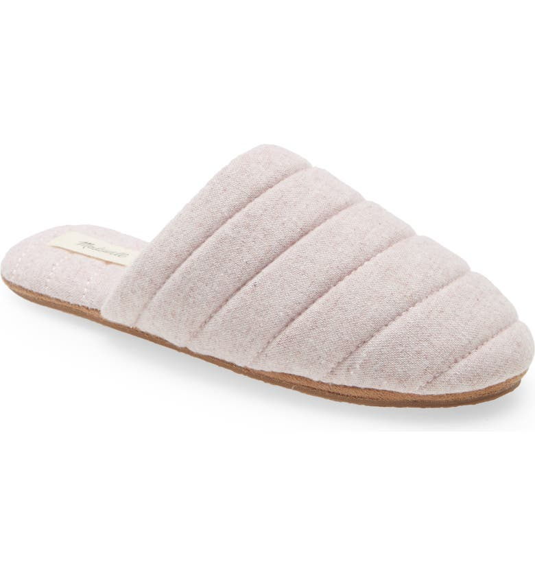 MADEWELL Chambray Quilted Scuff Slippers, Main, color, ROSE DUST MULTI