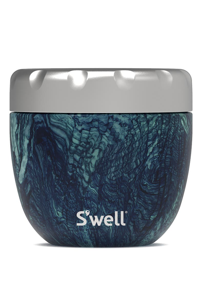 S'WELL Eats<sup>™</sup> 21.5-Ounce Stainless Steel Bowl & Lid, Main, color, AZURITE MARBLE