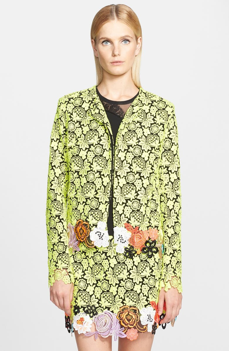 CHRISTOPHER KANE Embroidered Floral Lace Jacket, Main, color, 730
