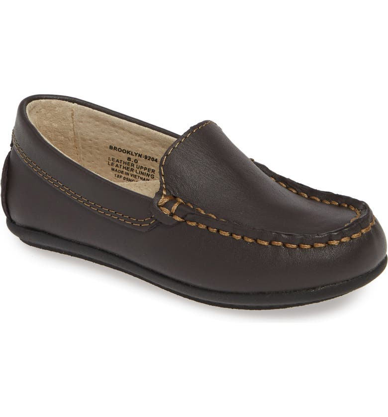 FOOTMATES Brooklyn Loafer, Main, color, BROWN