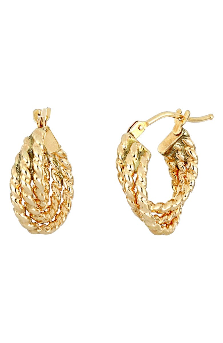 BONY LEVY 14K Gold Twisted Hoop Earrings, Main, color, YELLOW GOLD