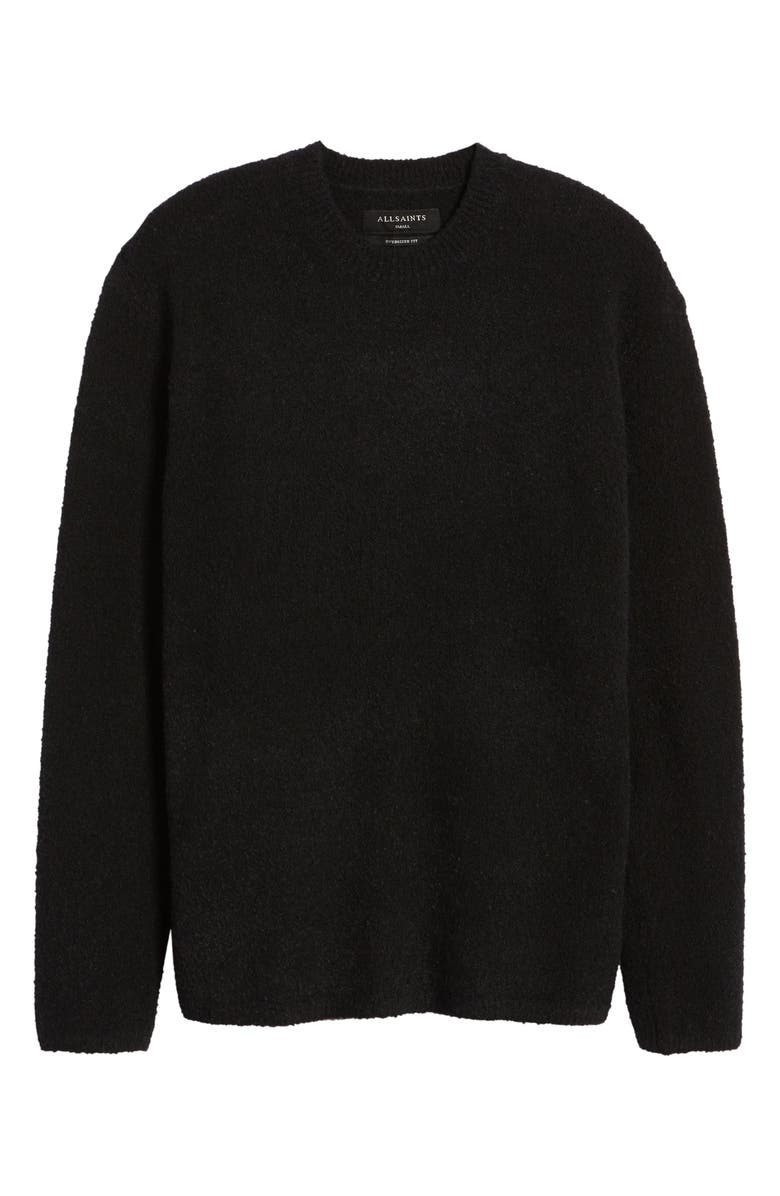ALLSAINTS Eamont Cotton Blend Crewneck Sweater, Main, color, 001