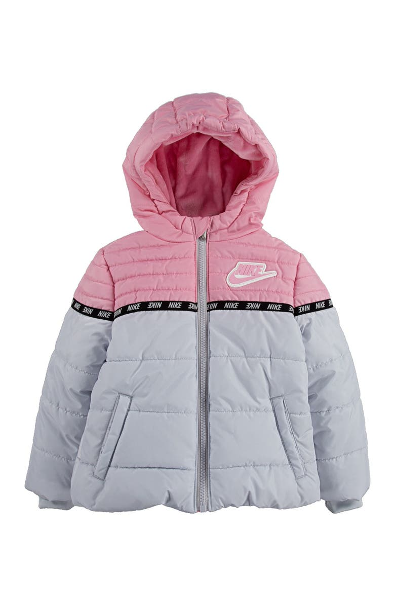 NIKE Kids' New Color Block Puffer Jacket, Main, color, 034