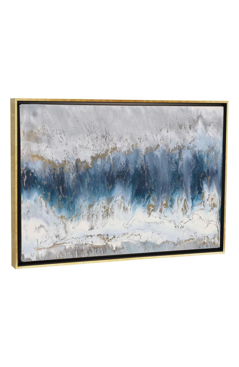 ICANVAS Moon Stone by Blakely Bering Giclée Print Canvas Art, Main, color, Blue