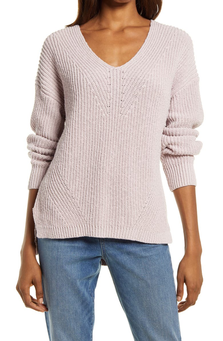 MADEWELL Ridgeton Pullover Sweater, Main, color, PALE LILAC