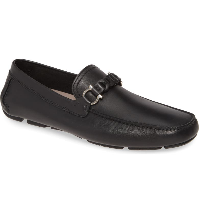 SALVATORE FERRAGAMO Stuart Driving Shoe, Main, color, NERO