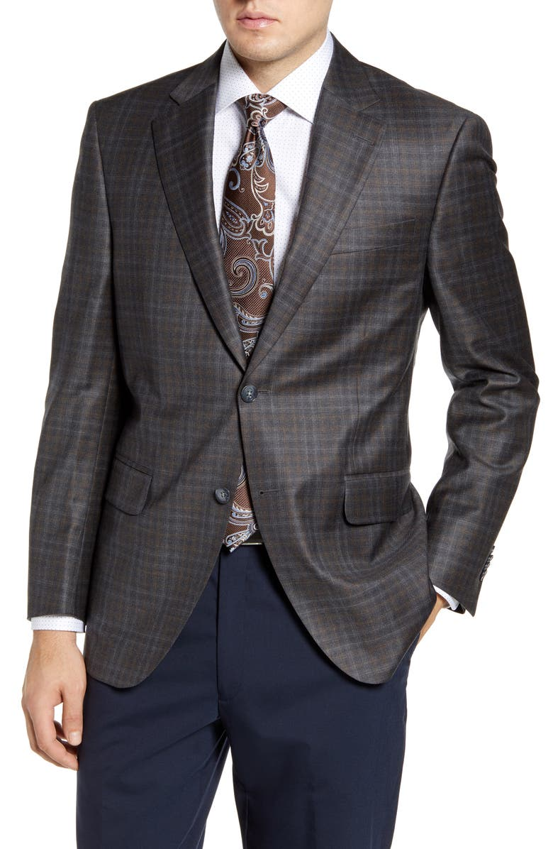 PETER MILLAR Flynn Classic Fit Check Wool Sport Coat, Main, color, 020
