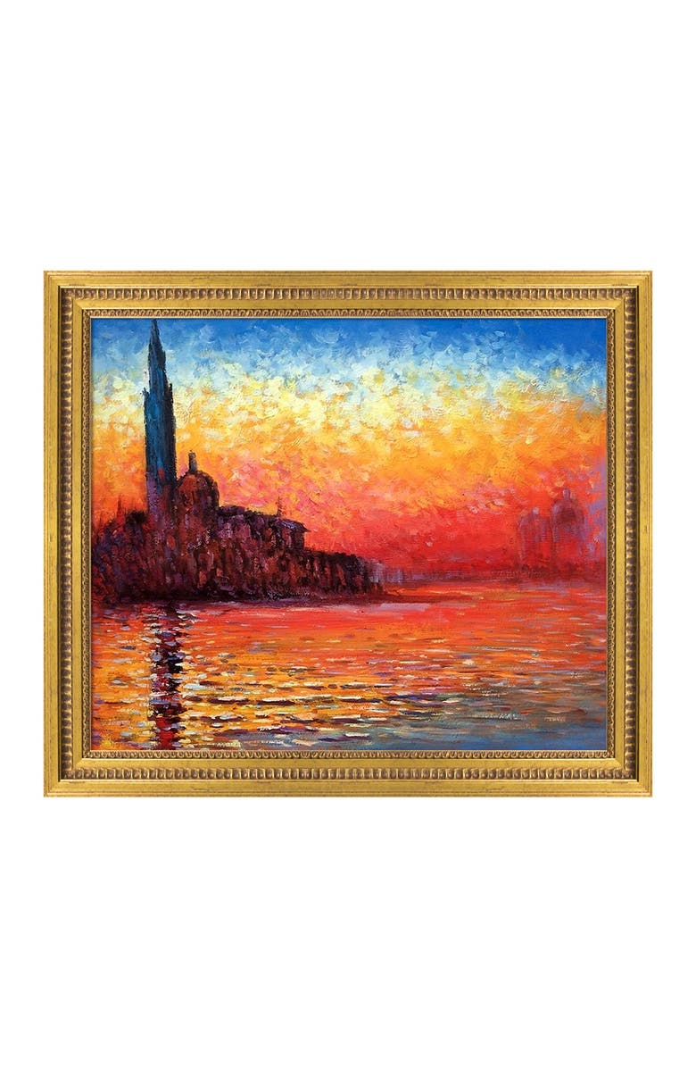 OVERSTOCK ART San Giorgio Maggiore by Twilight - Framed Oil Reproduction of an Original Painting by Claude Monet, Main, color, MULTI