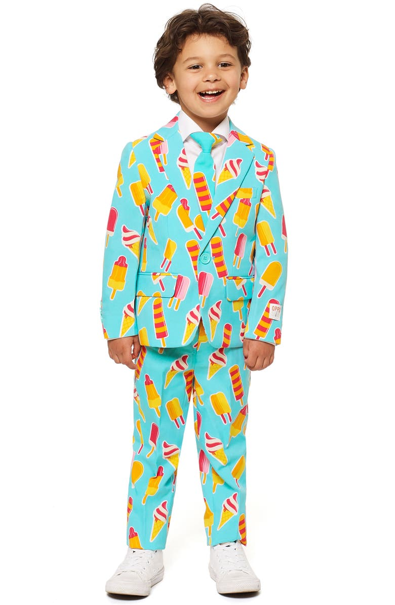 OPPOSUITS Cool Cones Two-Piece Suit with Tie, Main, color, Blue
