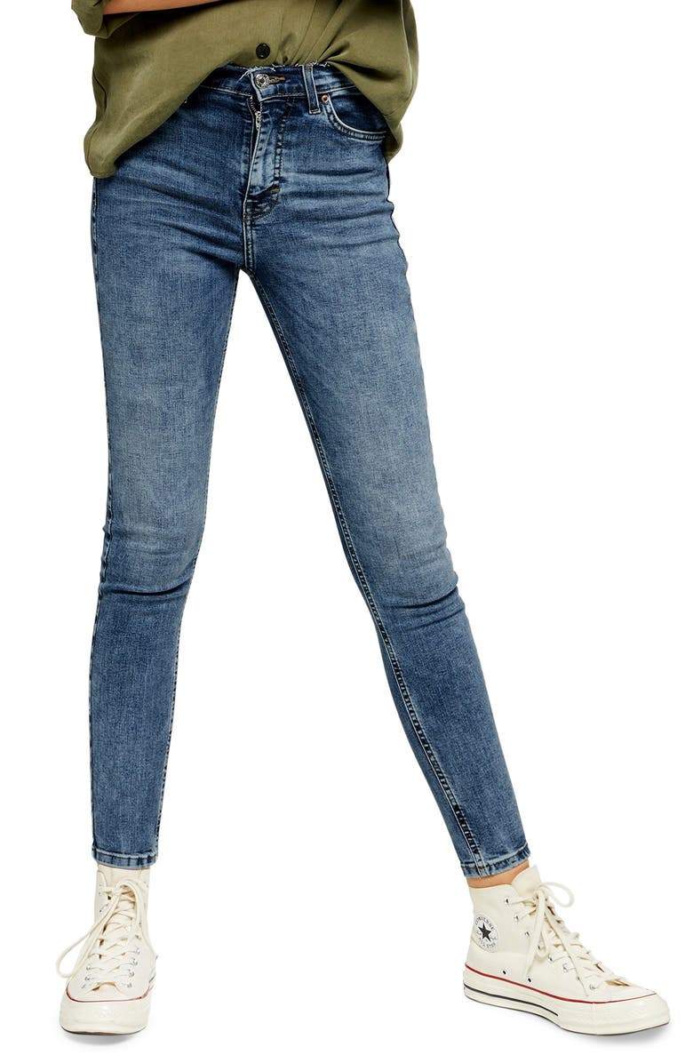 TOPSHOP Jamie High Waist Skinny Jeans, Main, color, 420