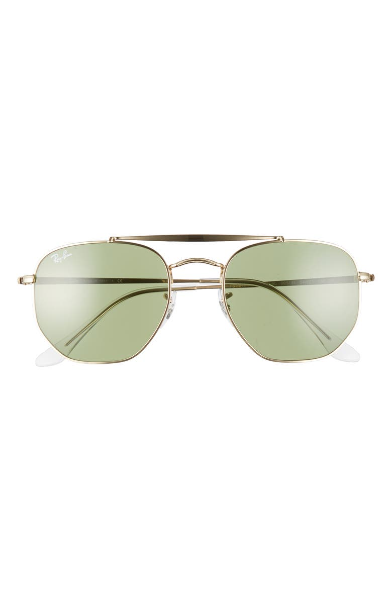 RAY-BAN 54mm Gradient Sunglasses, Main, color, GOLD/ GREEN SOLID